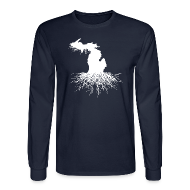 Long Sleeve Shirts ~ Men's Long Sleeve T-Shirt ~ Michigan Roots Men's Long Sleeve T-Shirt