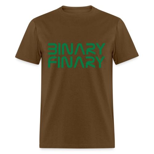 Binary Finary Logo T-Shirt (Brown - Green Logo) - Men's T-Shirt