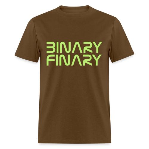 Binary Finary Logo T-Shirt (Brown - Neon Green Logo) - Men's T-Shirt