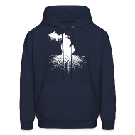 Hoodies ~ Men's Hoodie ~ Michigan Roots Men's Hooded Sweatshirt