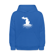 Sweatshirts ~ Kids' Hoodie ~ Michigan Roots Kid's Hooded Sweatshirt