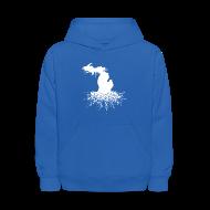 Sweatshirts ~ Kids' Hoodie ~ Michigan Roots Kid's Hooded Sweatshirt