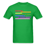 T-Shirts ~ Men's T-Shirt ~ Color Trains