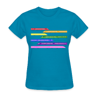 Women's T-Shirts ~ Women's T-Shirt ~ Color Trains