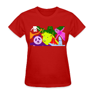 Women's T-Shirts ~ Women's T-Shirt ~ Animals and Banana