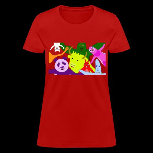Animals and Banana - Women's T-Shirt