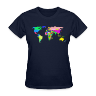 Women's T-Shirts ~ Women's T-Shirt ~ The World