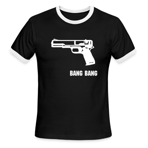 bang bang'' Guns of Locust Fitted Shirt - Men's Ringer T-Shirt