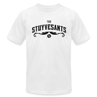 "T-Shirts ~ Men's T-Shirt by American Apparel ~ Mens ""The Stuyvesants"" Logo Tee White"