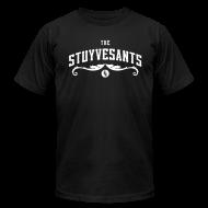 "T-Shirts ~ Men's T-Shirt by American Apparel ~ Mens ""The Stuyvesants"" Logo Tee Black"