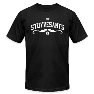 "T-Shirts ~ Men's T-Shirt by American Apparel ~ Mens ""The Stuyvesants"" Logo Tee Black"