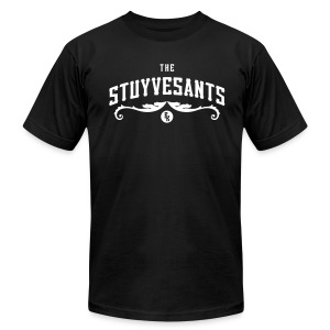 "Mens ""The Stuyvesants"" Logo Tee Black - Men's T-Shirt by American Apparel"
