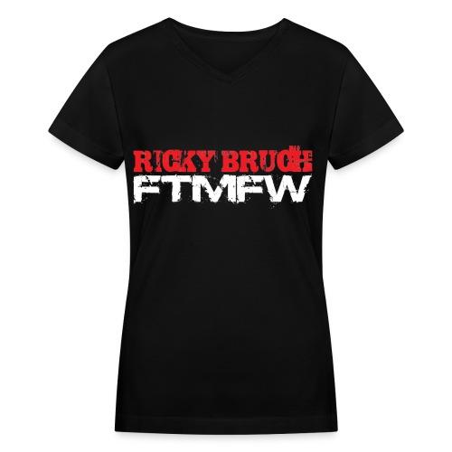 Ricky Bruch FTMFW - Women's V-neck - Women's V-Neck T-Shirt