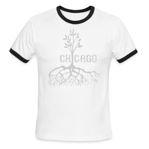 Chicago Tree - Men's Ringer T-Shirt