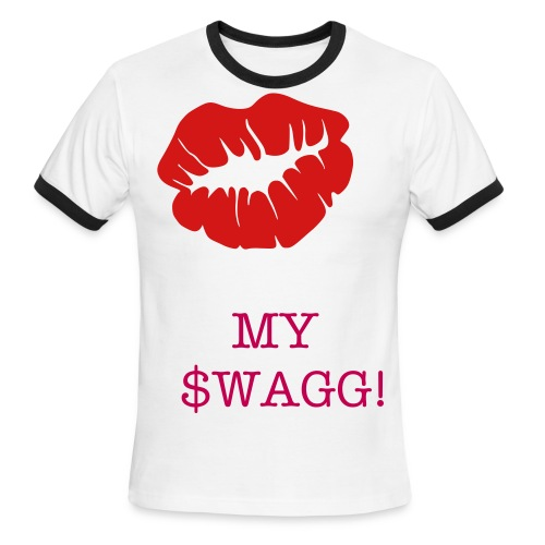 Kiss my swag shirt - Men's Ringer T-Shirt