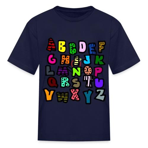 black alphabet tee - Kids' T-Shirt