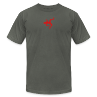 T-Shirts ~ Men's T-Shirt by American Apparel ~ Premium QWOP Silhouette T-shirt