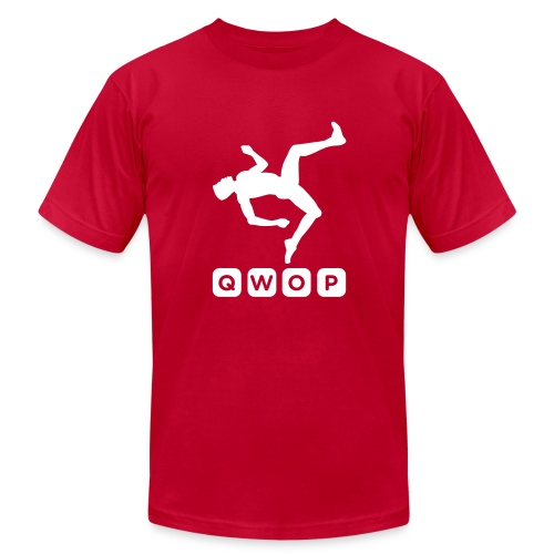 Premium QWOP Logo T-shirt - Men's Fine Jersey T-Shirt