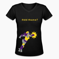 roller derby Diva in action Women's T-Shirts