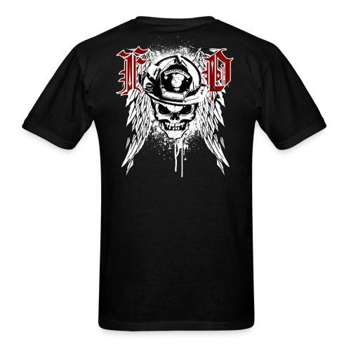 Fire Department Skull - Men's T-Shirt