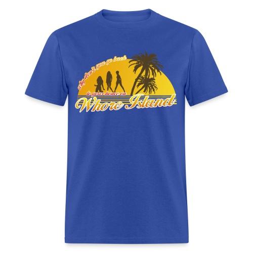 Whore Island anchorman tshirt - Men's T-Shirt