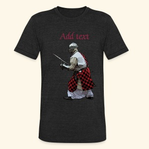 Medieval knight martial arts - Unisex Tri-Blend T-Shirt by American Apparel