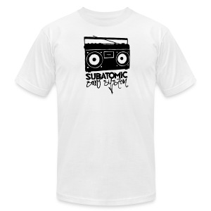Subatomic Graffiti Boombox - Men's T-Shirt by American Apparel