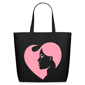 A Woman's Heart Pink Tote - Eco-Friendly Cotton Tote