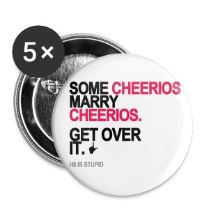 Some Cheerios Marry Cheerios Long Sleeve White - Small Buttons