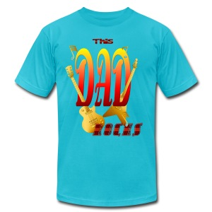 This DAD Rocks! - Men's T-Shirt by American Apparel