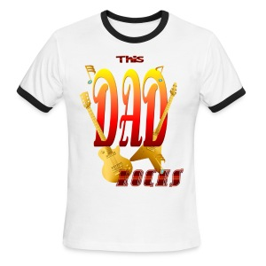 This DAD Rocks! - Men's Ringer T-Shirt
