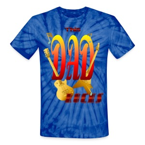 This DAD Rocks! - Unisex Tie Dye T-Shirt