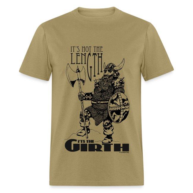 Dwarf - It's not the length... Black on Oxford men's standard T-shirt