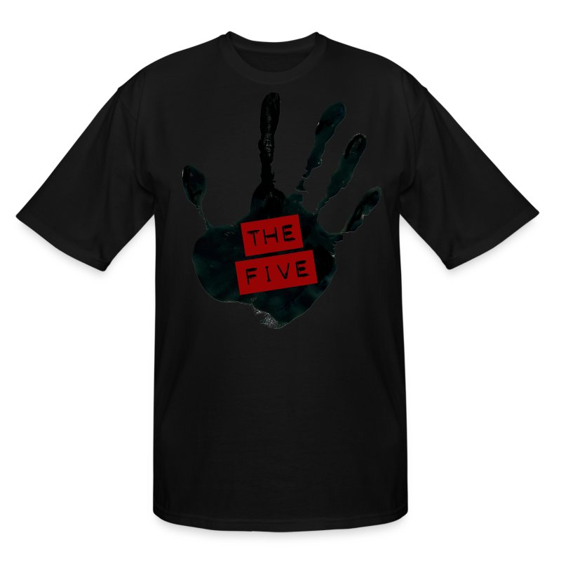 the_five_logo__black_on_transparent - Men's Tall T-Shirt