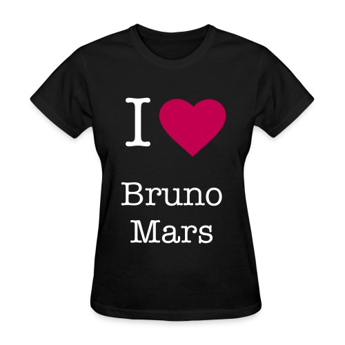 I Love Bruno Mars - Women's T-Shirt
