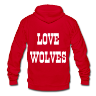 Zip Hoodies & Jackets ~ Unisex Fleece Zip Hoodie by American Apparel ~ LOVE WOLVES 09 HOODIE