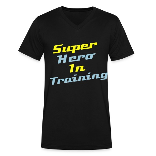 Super Hero In Training - Men's V-Neck T-Shirt by Canvas