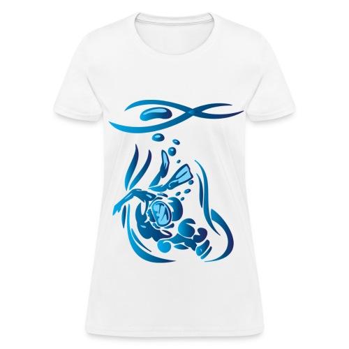 Scuba Divier 1 Blue - Women's T-Shirt