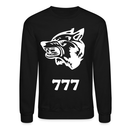 Wolf 777 Crewneck Sweater - Crewneck Sweatshirt