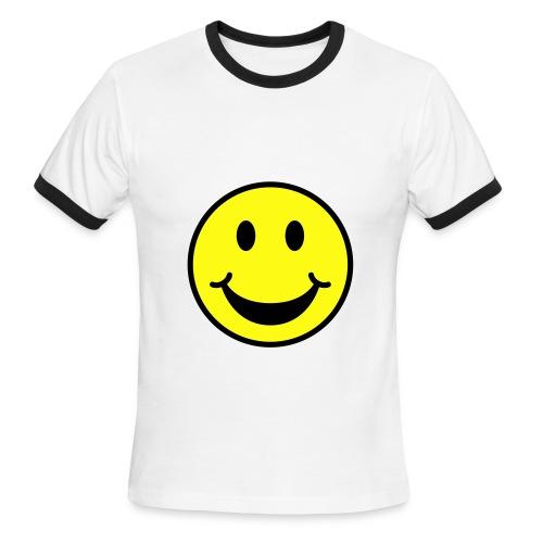 wolf smile shirt - Men's Ringer T-Shirt
