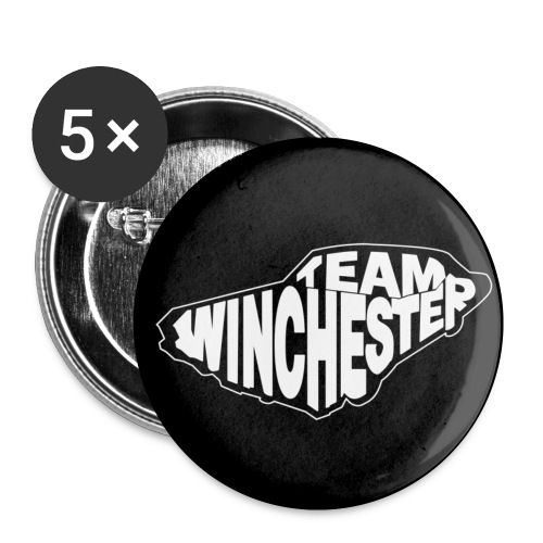 Team Winchester (black) - Small Buttons