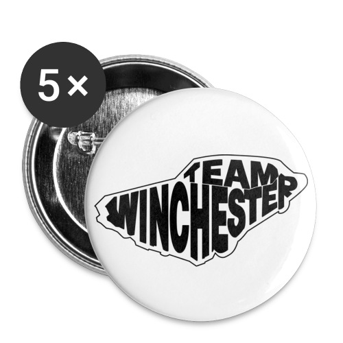 Team Winchester (white) - Large Buttons