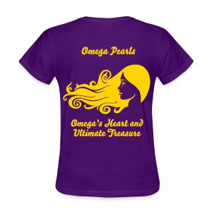 Omega Pearls Omega's Heart and Ultimate Treasure - Women's T-Shirt