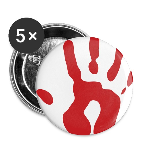 Bloody Hands Button 5 pack - Small Buttons