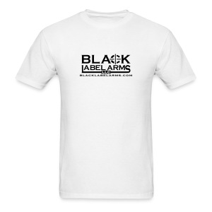 Black Label White T - Men's T-Shirt