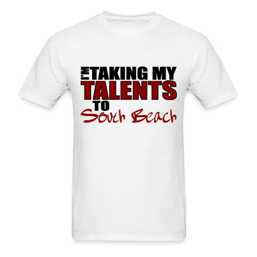 Men's Lebron Decision Taking my Talents to South Beach Tee - Men's T-Shirt