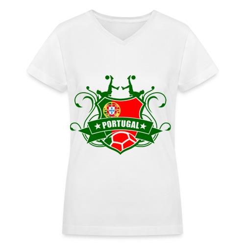 Portugal Soccer Tee - Women's V-Neck T-Shirt