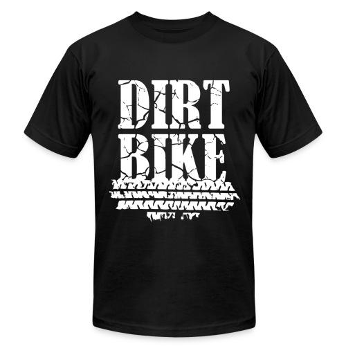 Dirt Bike White - Men's  Jersey T-Shirt