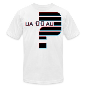 Hawaiian - Did I Stutter? 3D Anaglyph - Men's T-Shirt by American Apparel