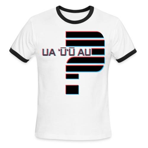 Hawaiian - Did I Stutter? 3D Anaglyph - Men's Ringer T-Shirt